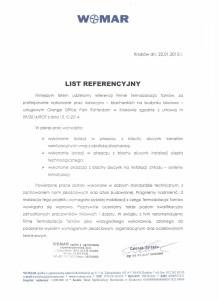Womar referencje 22.01.2015 r. Kraków